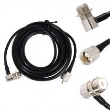 Кабельная сборка PL259-SO239 длина 5 метров кабель RG58