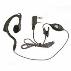 Гарнитура со шнуром в износостойкой оплетке для раций Baofeng KENWOOD